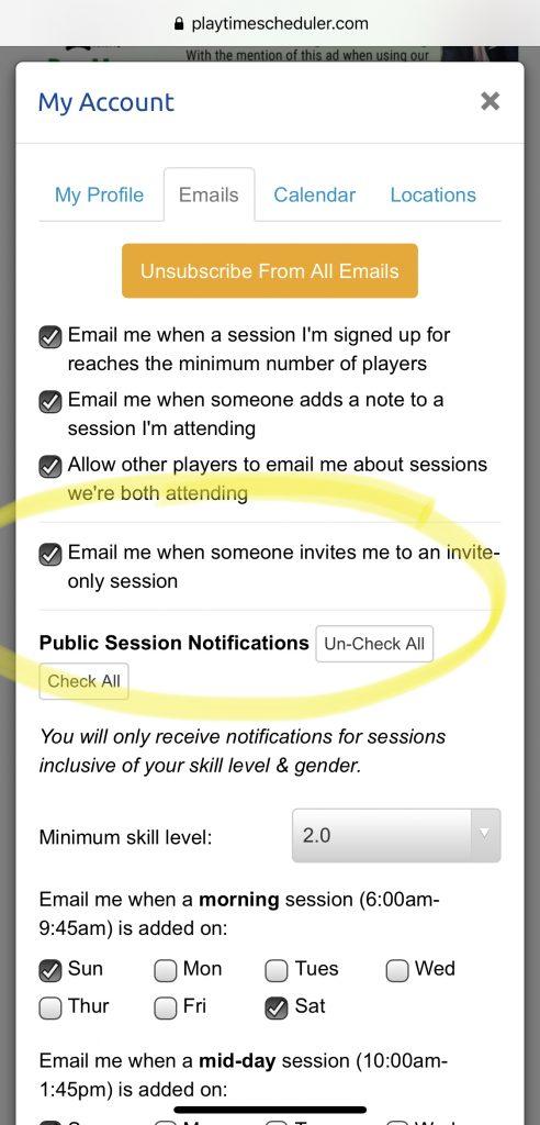 Playtime Scheduler - Emails