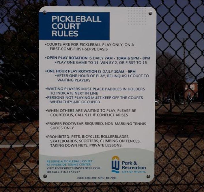 City of Wichita - Pickleball Court Rules