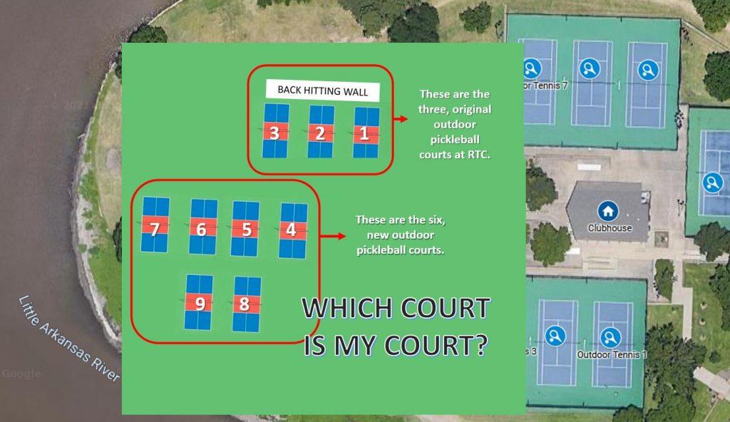 Riverside Tennis Center Outdoor Pickleball Courts Layout