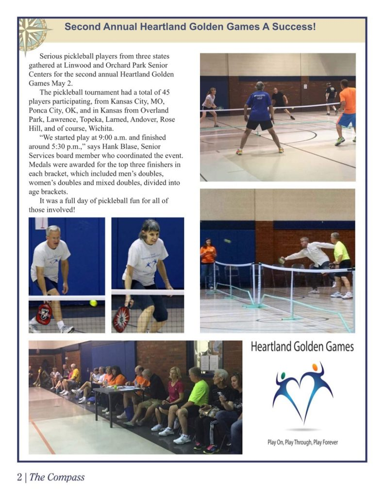 Article about the Heartland Golden Games on the Compass